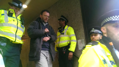 Passionists UK Rebellion and Arrest at ER's Campaign of Respectful Disruption